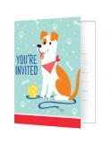invitations theme d'anniversaire chiens en suisse