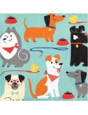 serviettes petites theme chiens pas cher en suisse