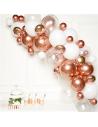 arche de ballons rose gold et blanc en suisse
