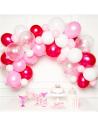 arche de ballons tons rose en suisse