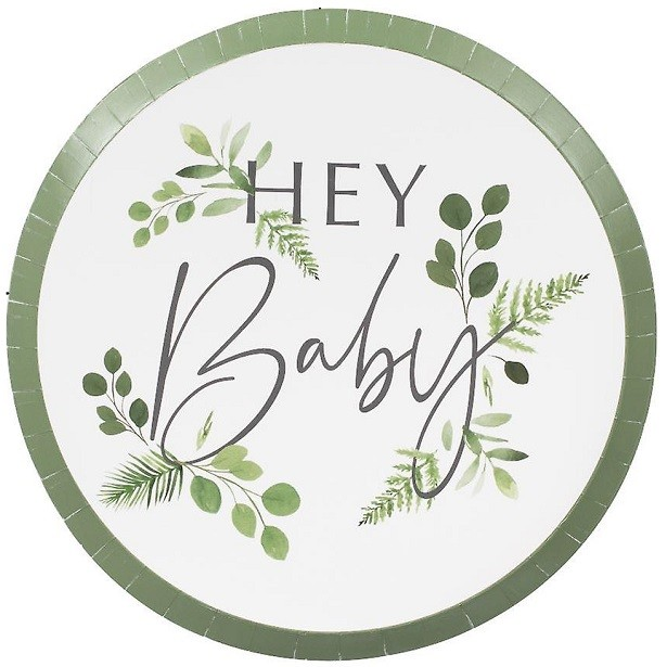 "Baby Shower Botanique ""Hey Baby"""