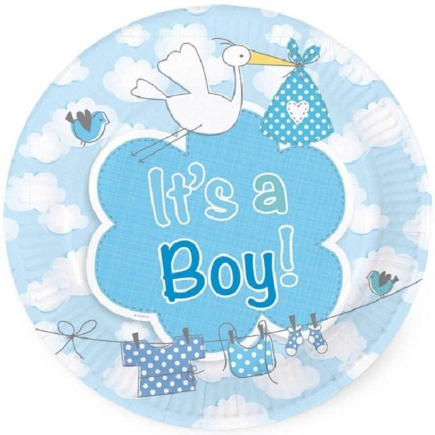 "Baby Shower ""Cigogne Bleu"""
